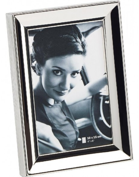 Photo frame silvered Amelie 4 formats