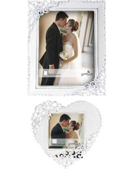 Photo frame Eternity metal frame white
