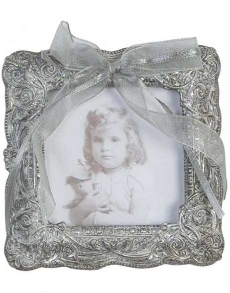 Photo frame with antique silver loop 7.5 x 7.5 cm