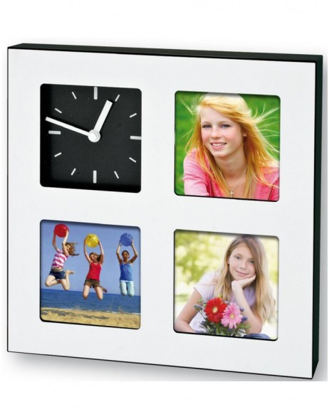 Photo watch Gordon picture frame with clock 19x19 cm