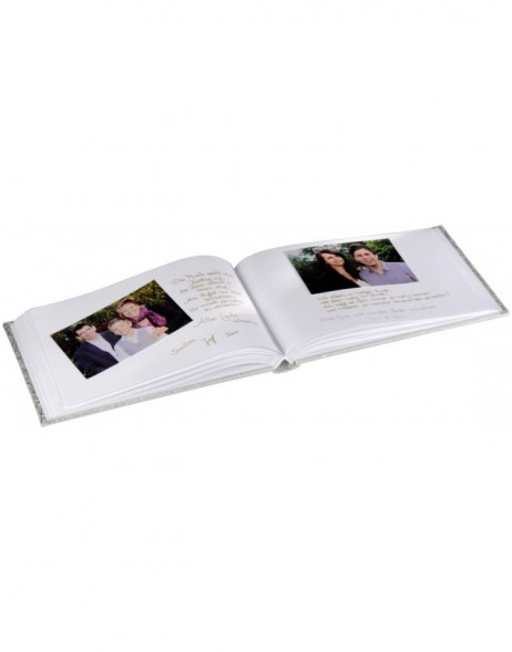Caracas Photo and Guest Album, 30x20 cm, 60 whites pages, silver