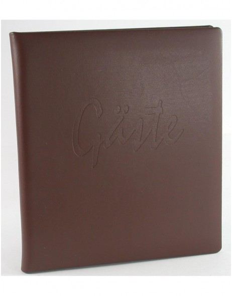 Guestbook dark brown leather Akola