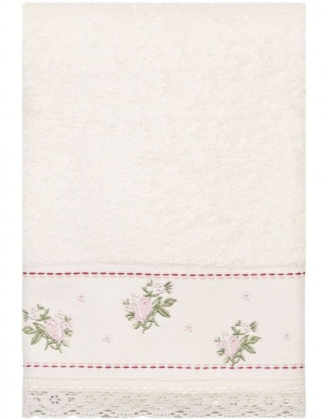guest towel  Clayre Eef TOW0005SW white