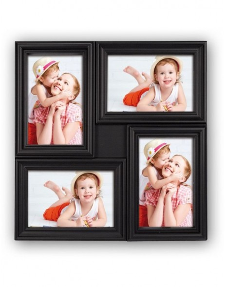 MALAGA gallery frame 4 photos 10x15 cm black