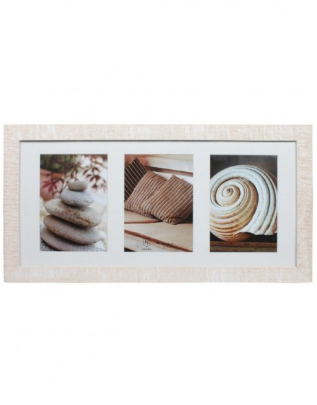 Gallery frame Driftwood 3 photos 13x18 cm white