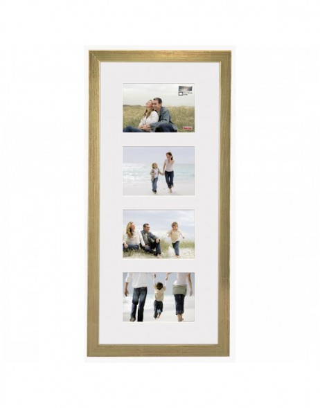 wooden gallery frame Riga 4 pictures 10x15 cm gold