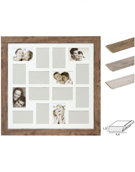 Gallery frame S48S 16 photos 10x15 cm 3 colours