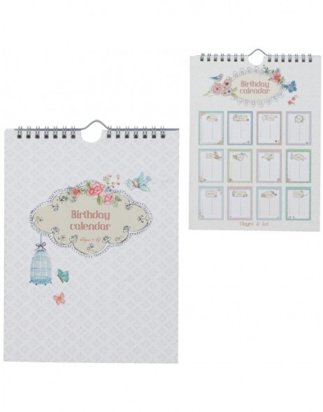 birthday calender (english) 6PA0413E by Clayre Eef
