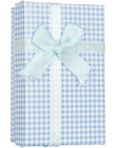 checked gift box 6PA0401BL by Clayre Eef