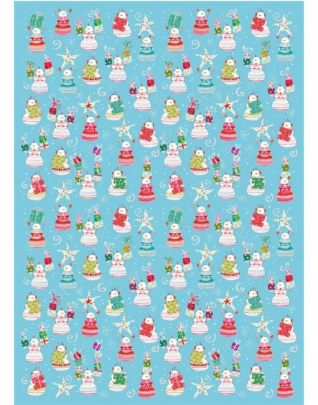 Wrapping paper Fun Snowman Turnowsky