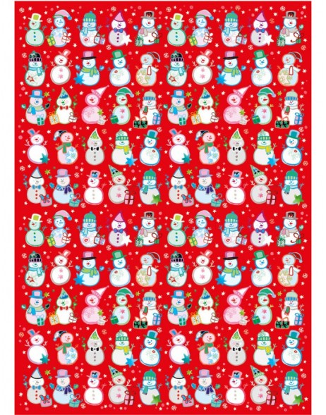 Wrapping paper Red Snowman Turnowsky
