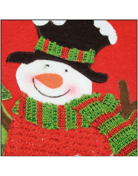 christmas bag 25x28 cm snowman