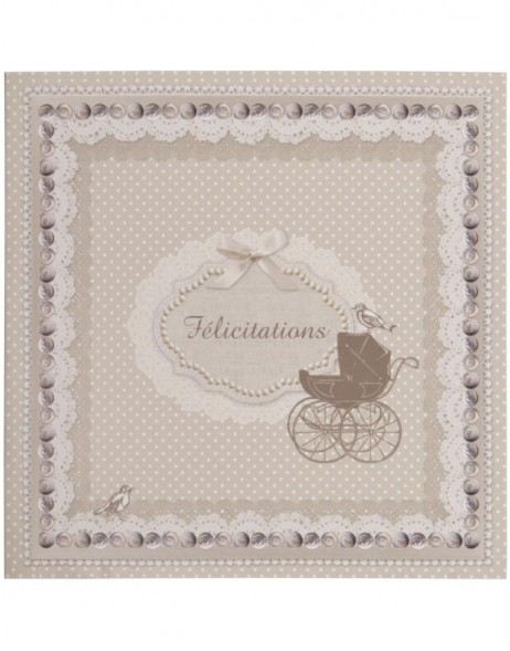 greeting card Baby 13,5x13,5 cm French