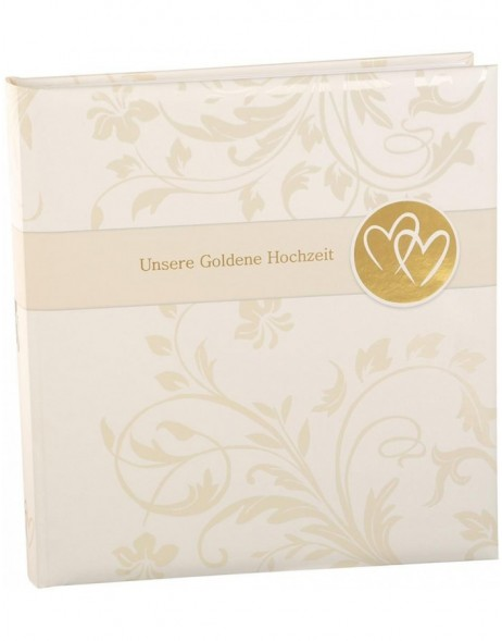 Gold wedding album Amore love