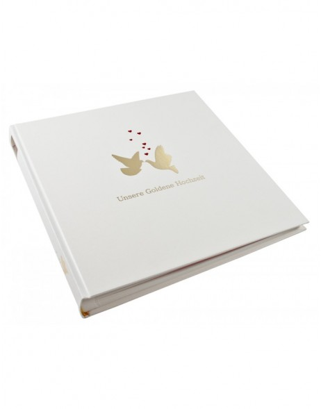 Gold wedidng photo album Dove