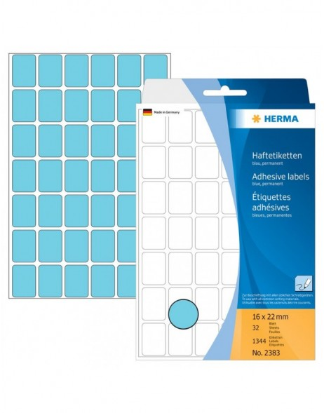 Multi-purpose labels 16x22mm blue 1344 pcs.