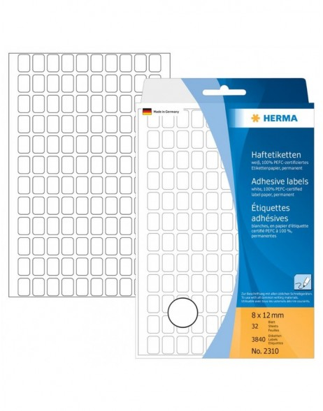Multi-purpose labels 8x12mm white 3840 pcs.