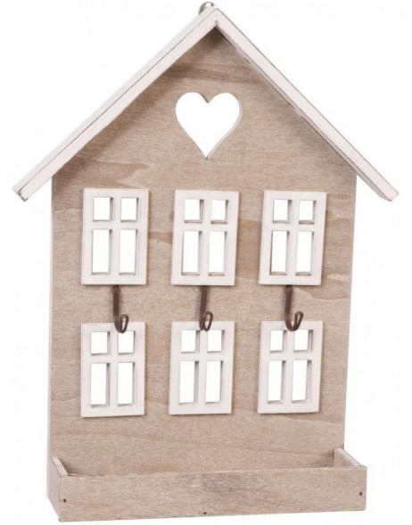 HOUSE key holder 22x28 cm light brown