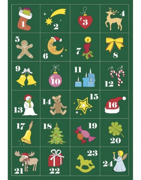 HERMA Sticker decor advent calendar 1-24, glittery