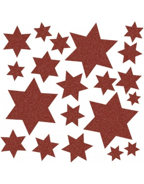 HERMA Window decoration stars, red