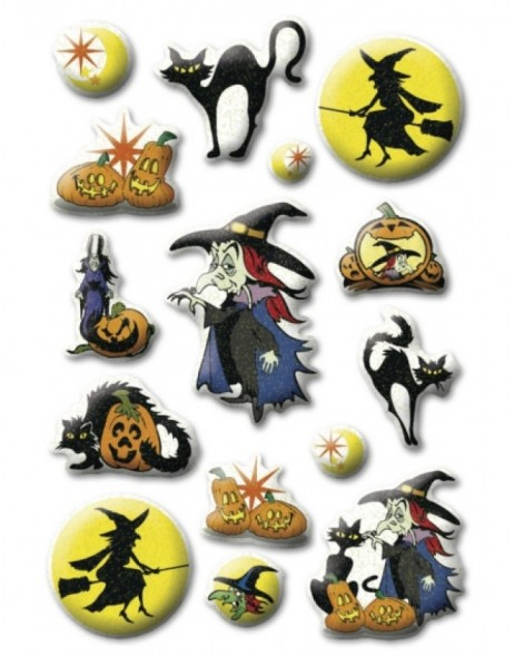 HERMA Sticker Halloween witches, Stone glittery