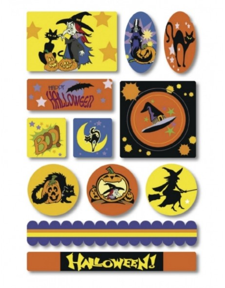 HERMA Sticker Halloween cats, Foam