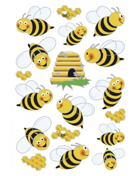 HERMA Sticker MAGIC bees, 3D wings