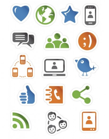 HERMA MAGIC Social Media Icons, Karton