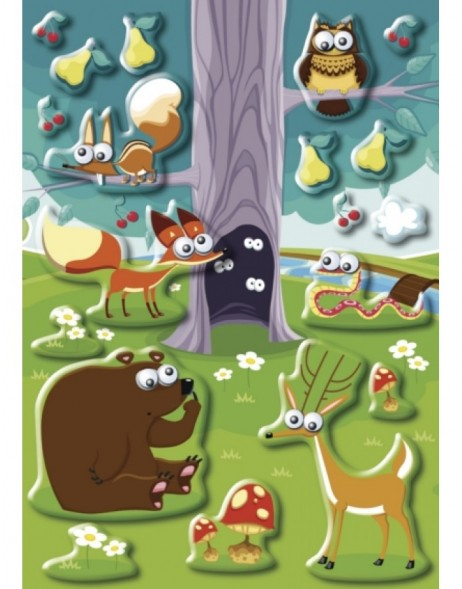 HERMA Sticker MAGIC Animals in the forest, Moving eyes