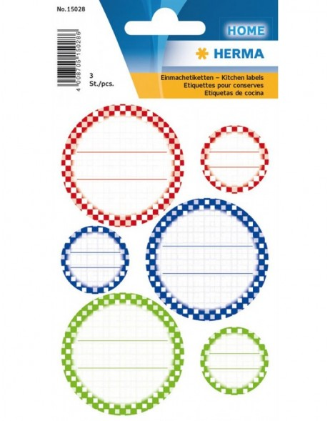 HERMA Sticker VARIO Kitchenlabels for lid