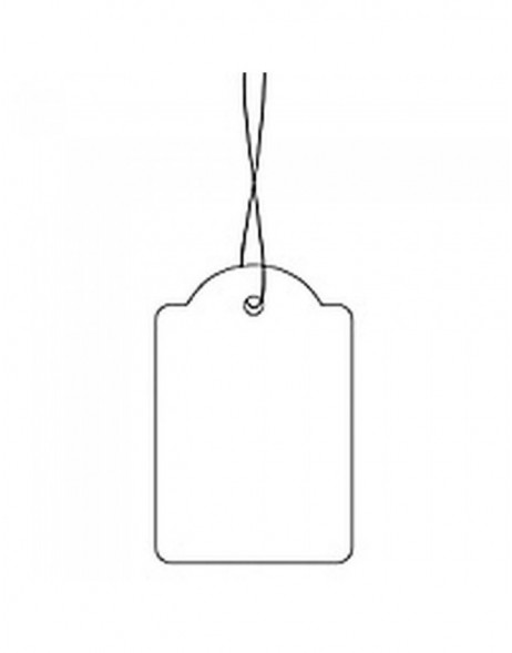 Strung marking tags 18x28mm with white string  1000 pcs.