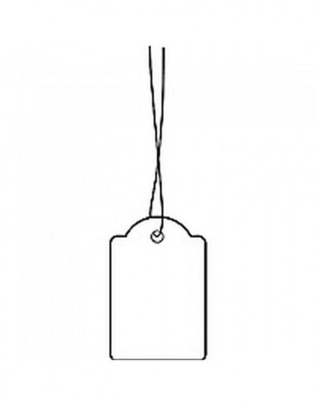 Strung marking tags 25x38mm with white string  1000 pcs.