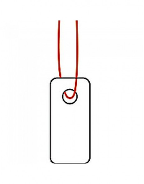 Strung marking tags 7x15mm with red string 1000 pcs.