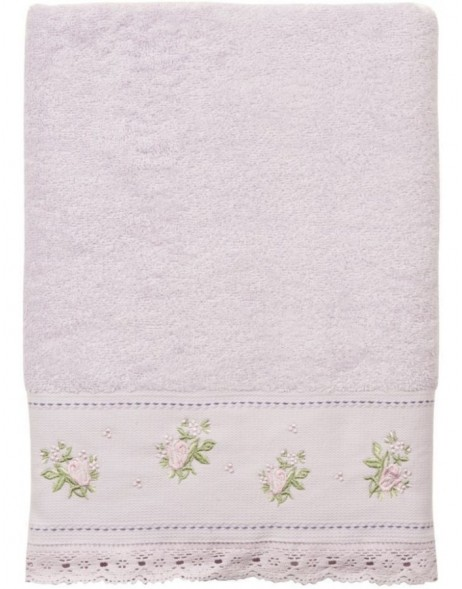 towel light aubergine - TOW0005LLA Clayre Eef