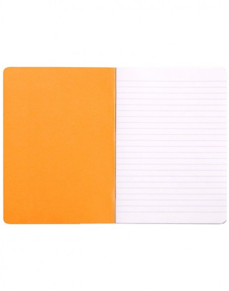 Booklet Rhodia A5 ruled 48 sheets orange