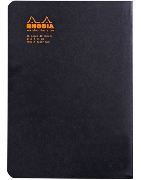 Booklet Rhodia A5 ruled 48 sheets black