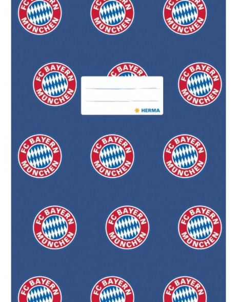 Exercise book cover A4 FC Bayern München blue