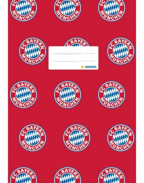 Exercise book cover A4 FC Bayern München red