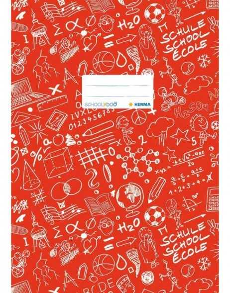 Exercise book cover A4 SCHOOLYDOO, red