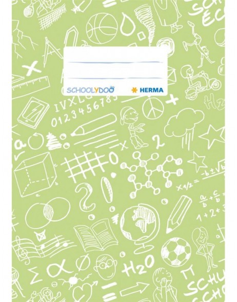 Exercise book cover A5 SCHOOLYDOO, light green