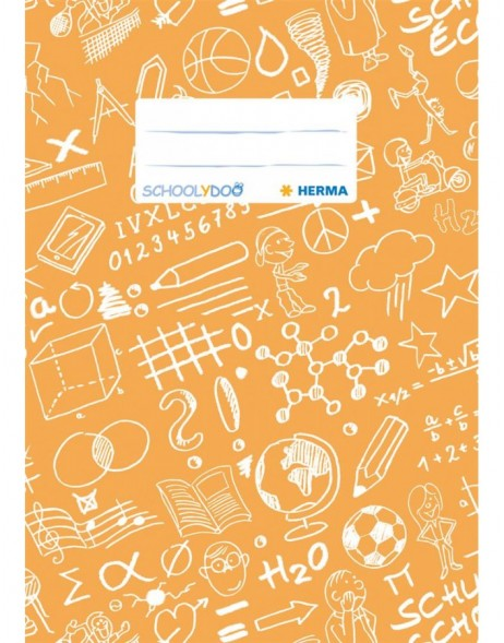 Exercise book cover A5 SCHOOLYDOO, orange