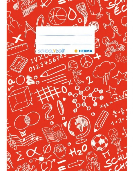 Exercise book cover A5 SCHOOLYDOO, red