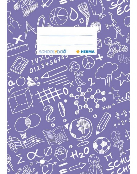 Exercise book cover A5 SCHOOLYDOO, violet