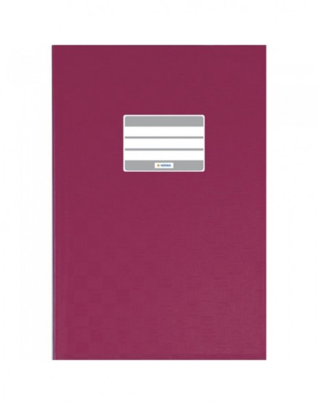 Exercise book cover PP A4 ruby red opaque