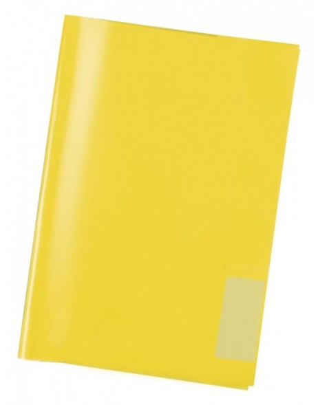 Exercise book cover PP A4 transparent/yellow