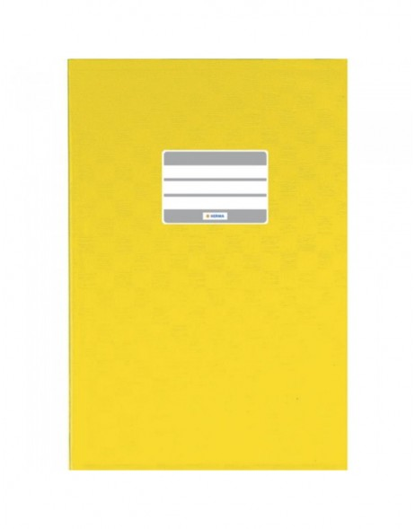 Exercise book cover PP A5 yellow opaque