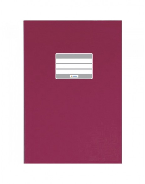 Exercise book cover PP A5 ruby red opaque