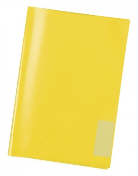 Exercise book cover PP A5 transparent/yellow