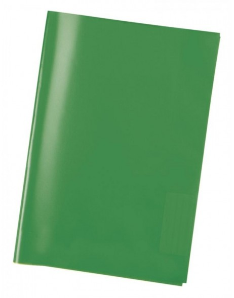 Exercise book cover PP A5 transparent/green