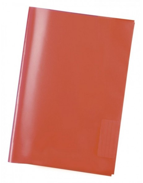 Exercise book cover PP A5 transparent/red